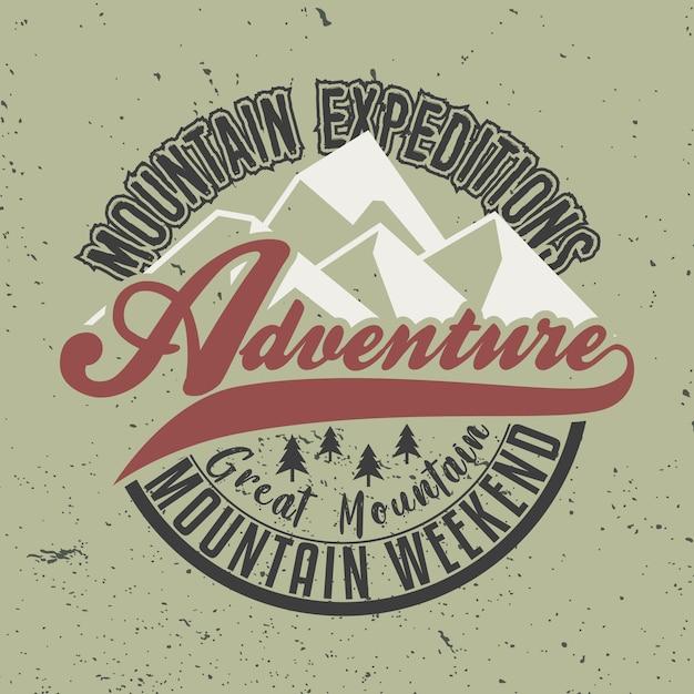 Bergexpeditionen abenteuer Premium Vektoren