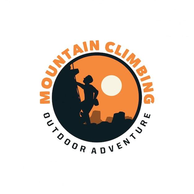 Bergsteigen logo Premium Vektoren