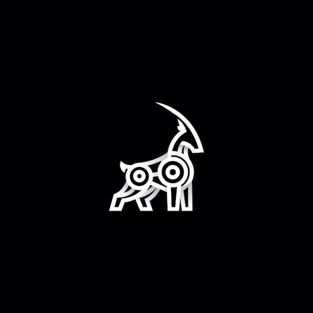 Bergziege logo design illustration Premium Vektoren