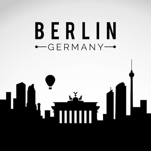 Berlin Skyline Kostenlose Vektoren