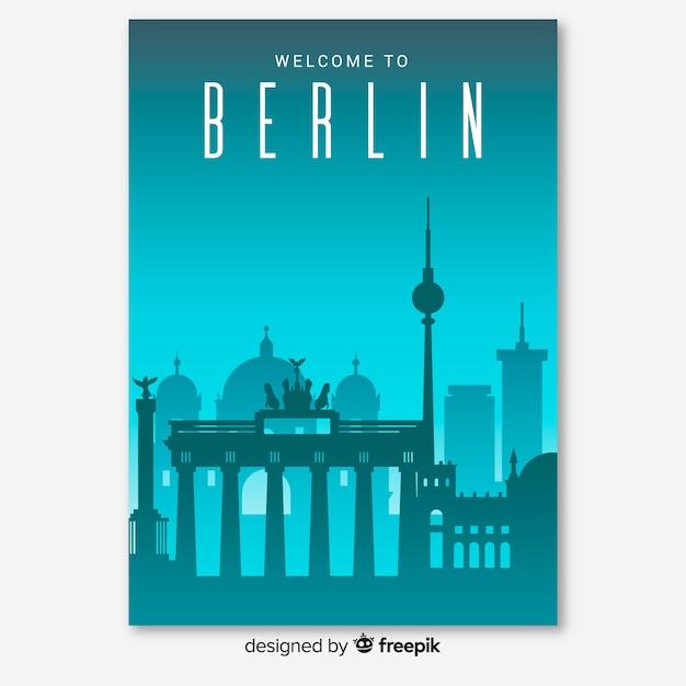 Berliner flyer Kostenlosen Vektoren