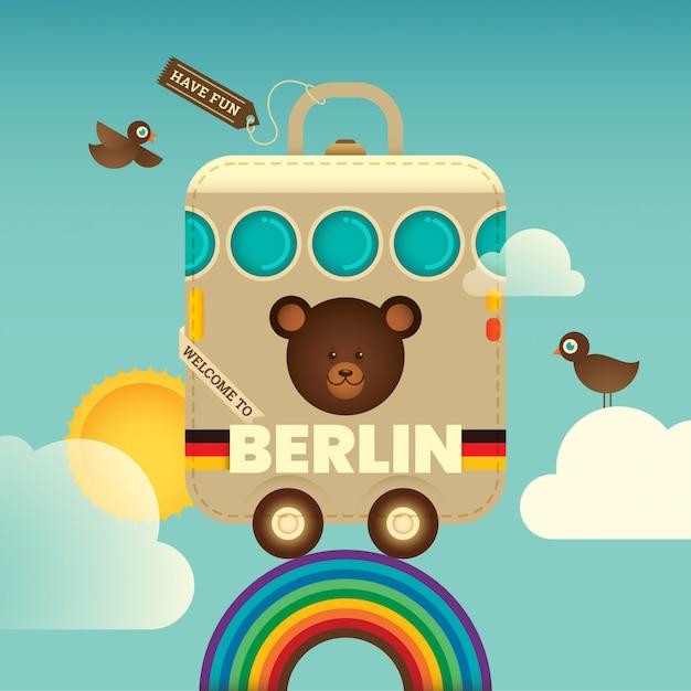 Berliner hintergrund reisen Premium Vektoren