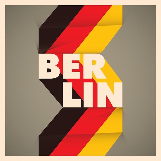 Berliner hintergrund Premium Vektoren