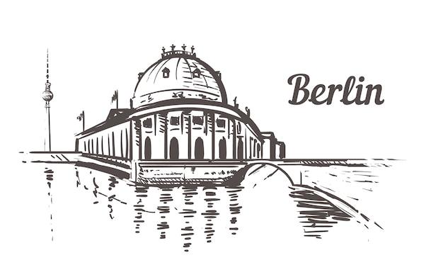 Berliner museumsinsel Premium Vektoren