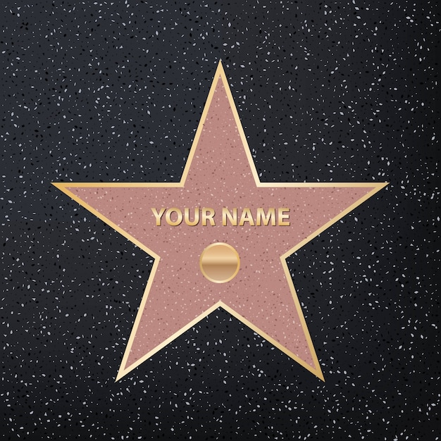 Berühmter schauspieler-star des bürgersteigs Premium Vektoren