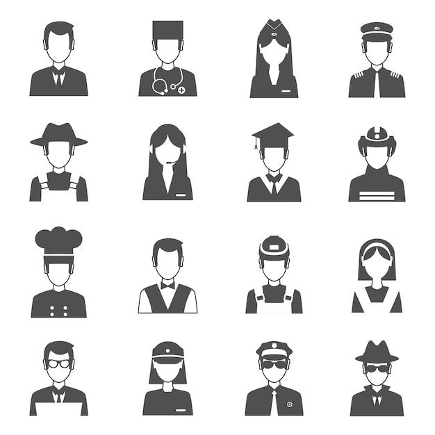 Beruf avatar set Kostenlosen Vektoren