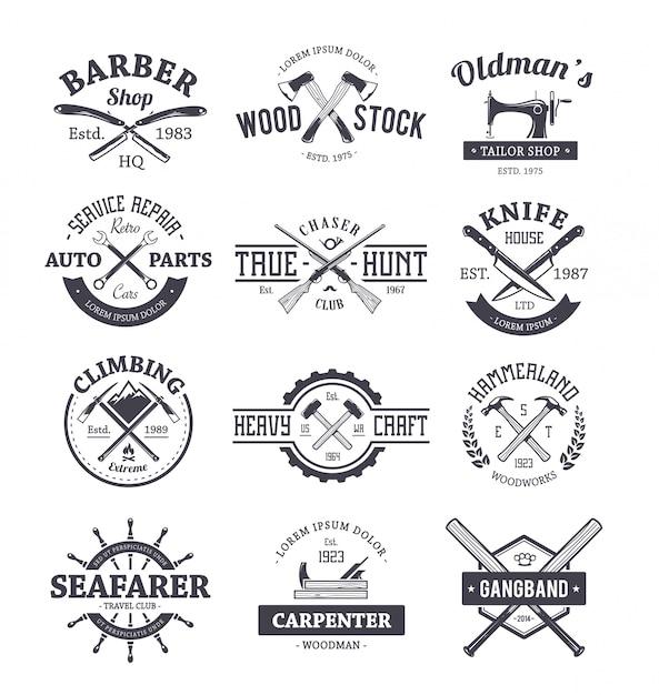 Berufe Logo-Vorlagen Sammlung | Download der Premium Vektor