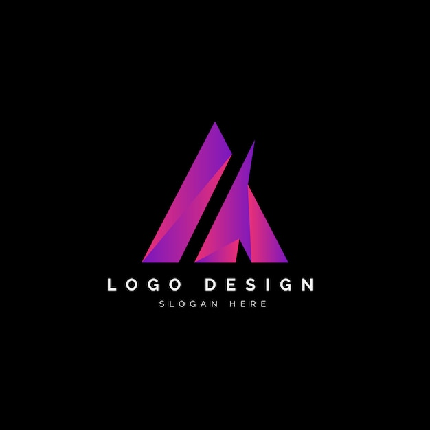 Beschriften sie ein buntes logo abstract design Premium Vektoren
