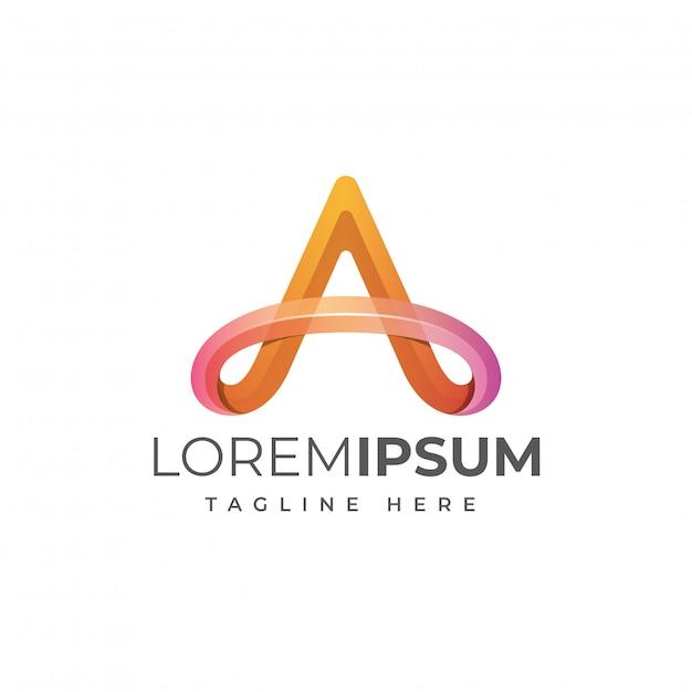 Beschriften sie eine logo-vorlage Premium Vektoren