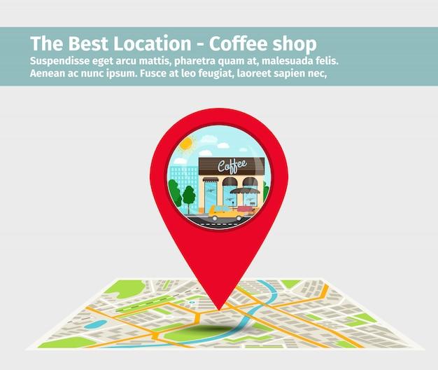 Beste lage coffee shop Premium Vektoren