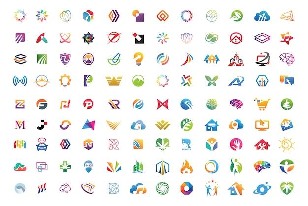 Beste logosammlungen Premium Vektoren
