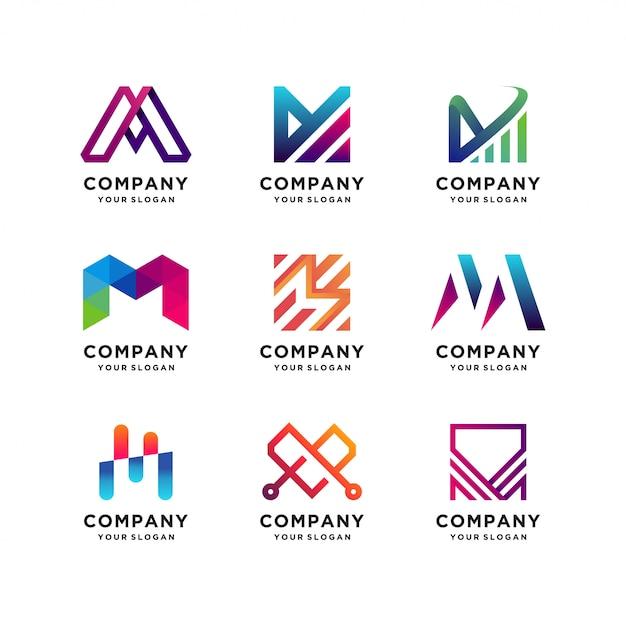 Beste sammlung von letter m-logo-vorlagen Premium Vektoren