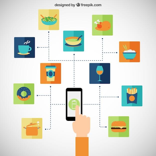 bestell essen bestellen download der kostenlosen vektor. Black Bedroom Furniture Sets. Home Design Ideas
