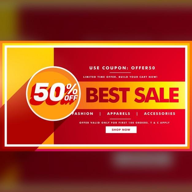 Besten Verkauf Banner Und Verkauf Gutschein Design Für