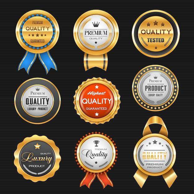 Bestes produktpreis-farbbandset Premium Vektoren