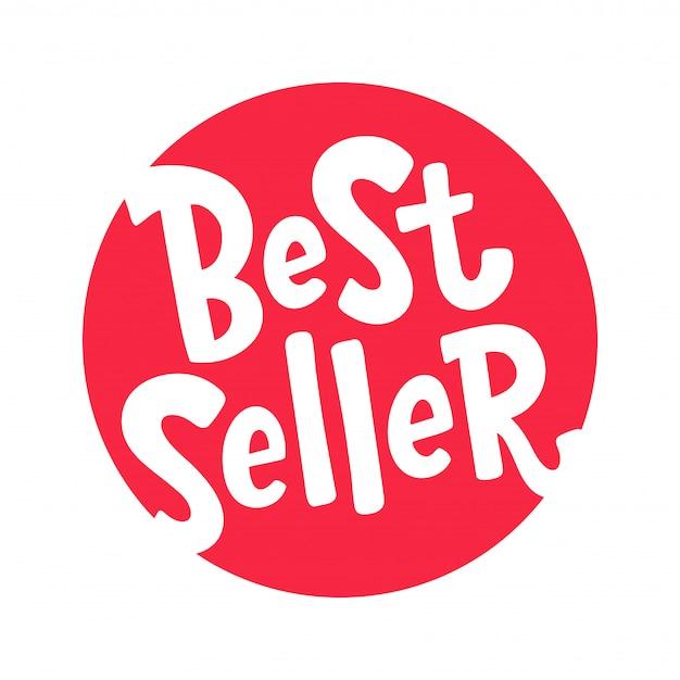 Bestseller, verkaufsschlager, spitzenreiter. schriftzug gestaltungselement. bestseller-wort. Premium Vektoren