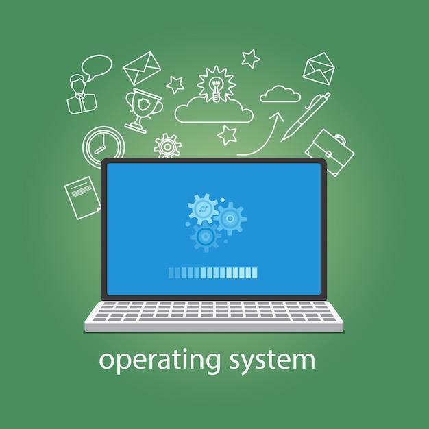 Betriebssystem softwear Premium Vektoren
