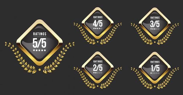 Bewertetes sternabzeichen premium Premium Vektoren
