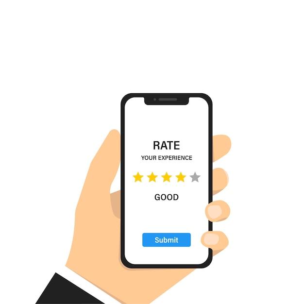 Bewertung bewertung feedback erfahrung. kundenbewertung. servicekonzept. kundendienst. Premium Vektoren