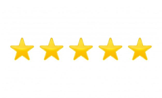 Bewertung in sternen. stimmen sie wie ein ranking ab. Premium Vektoren