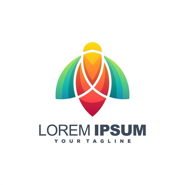 Biene abstraktes logo Premium Vektoren