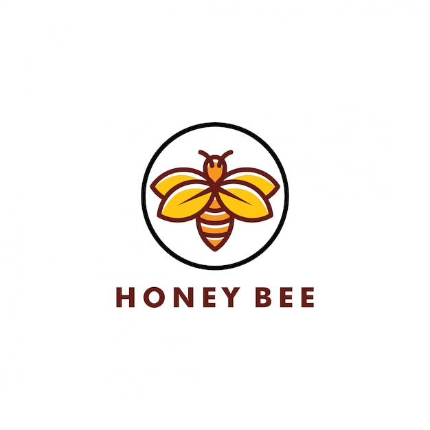 Biene logo design Premium Vektoren