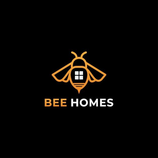 Biene logo vektor vorlage Premium Vektoren