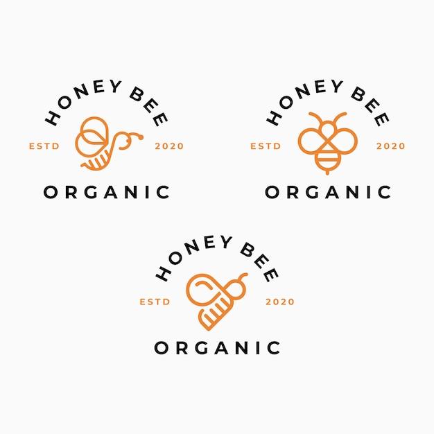 Biene logo vorlage Premium Vektoren
