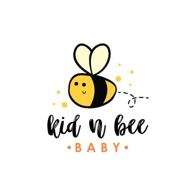 Biene logo Premium Vektoren