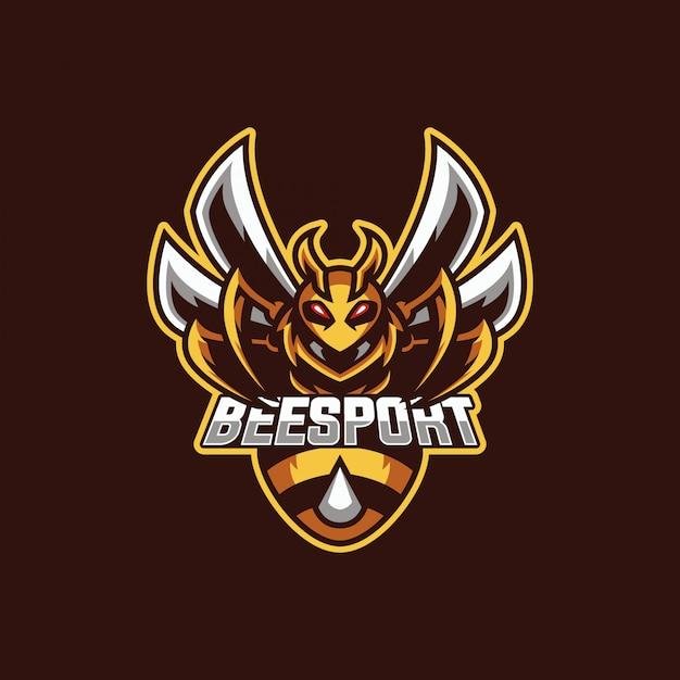 Biene maskottchen logo Premium Vektoren
