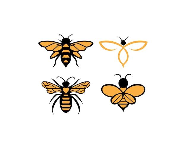 Biene tier symbol. honig fliegende biene. Premium Vektoren