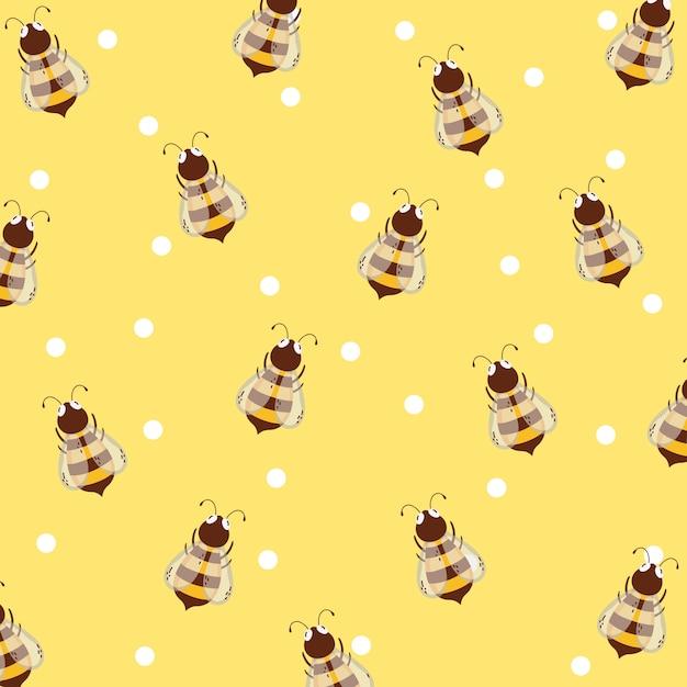 Bienen und honig hintergrund Premium Vektoren