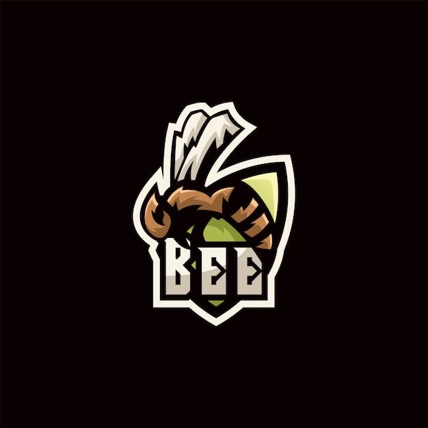 Bienenillustrationslogo Premium Vektoren
