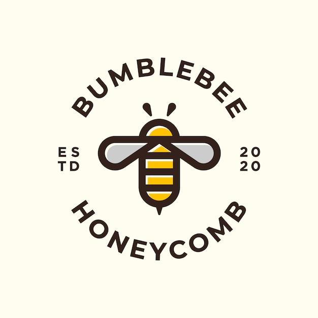 Bienenlogo und -ikone. Premium Vektoren