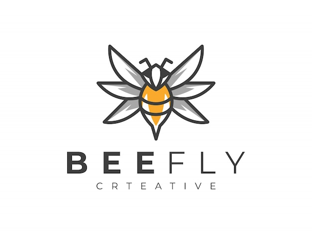 Bienenlogo Premium Vektoren