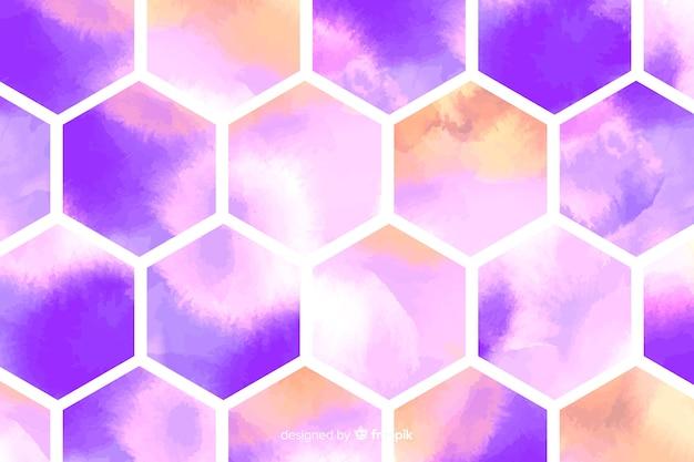 Bienenwaben aquarell mosaik hintergrund Kostenlosen Vektoren