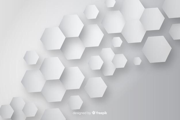 Bienenwaben papierdesign hintergrund Kostenlosen Vektoren