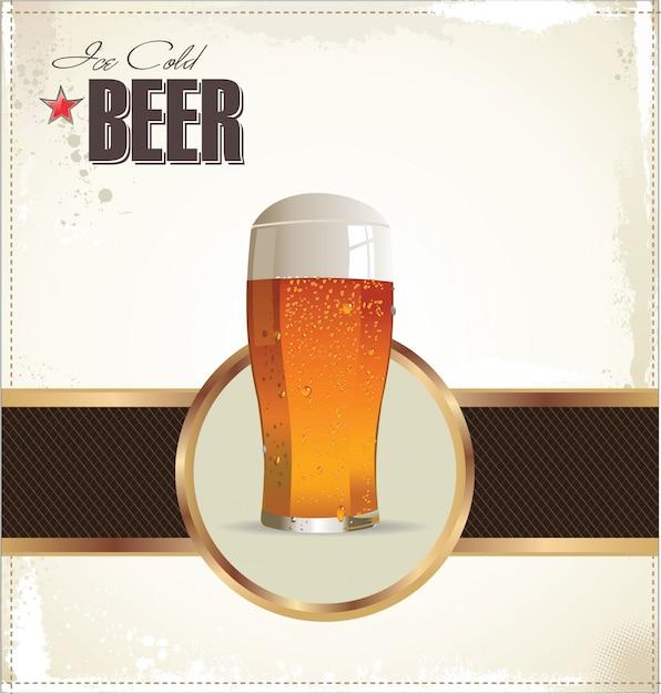 Bier cafe design Premium Vektoren