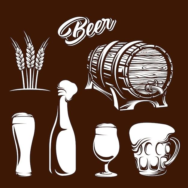 Bier element Premium Vektoren