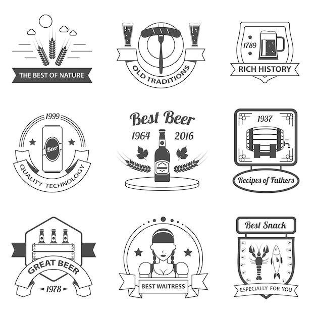 Bier-etiketten-set Kostenlosen Vektoren