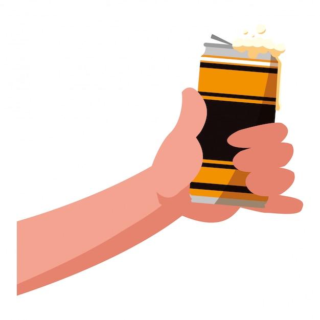 Bier kann symbol Premium Vektoren