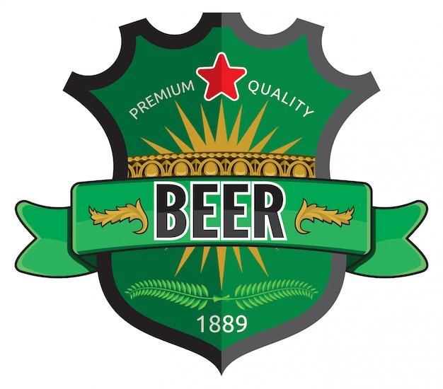 Bier-label-design Premium Vektoren