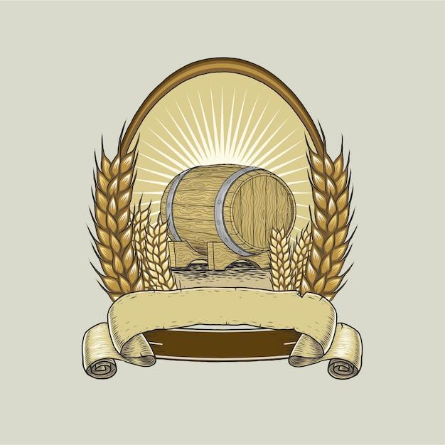 Bier label vorlage handzeichnung Premium Vektoren