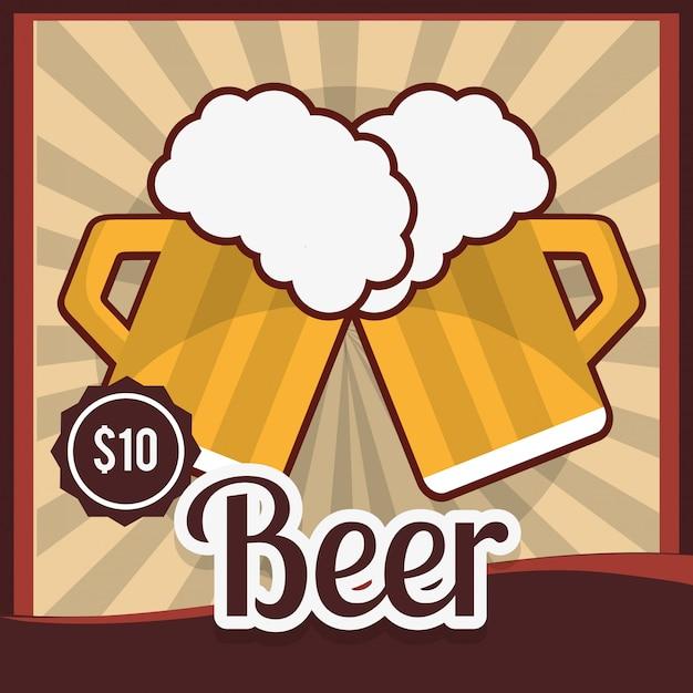 Bier produktdesign Premium Vektoren
