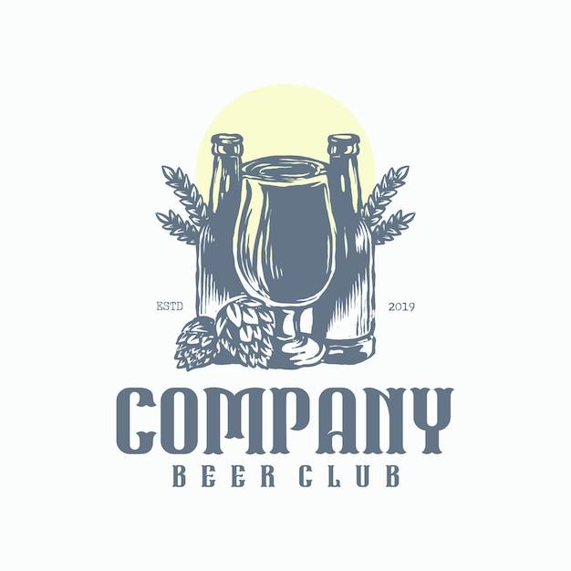 Bierclub-logo Premium Vektoren