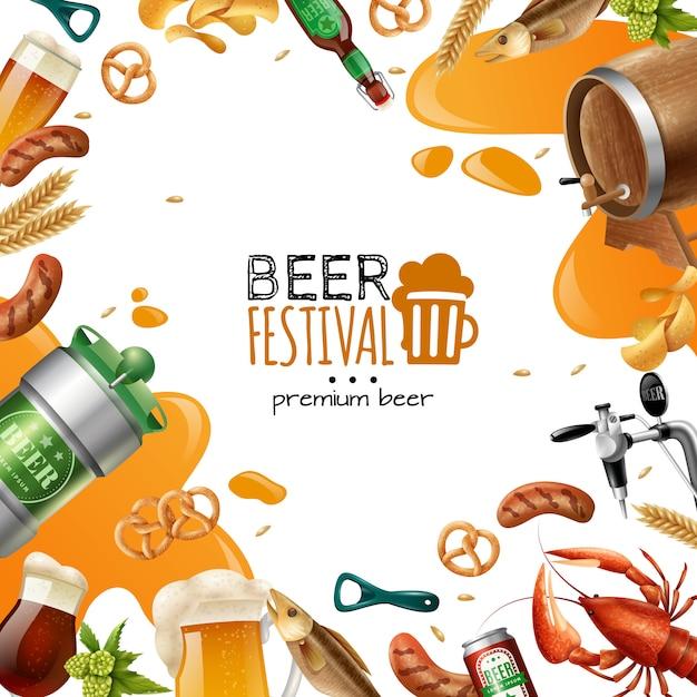 Bierfest-vorlage Kostenlosen Vektoren