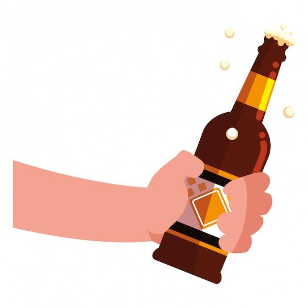 Bierflasche design Premium Vektoren