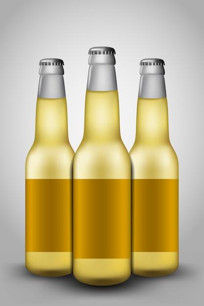 Bierflasche glas Premium Vektoren