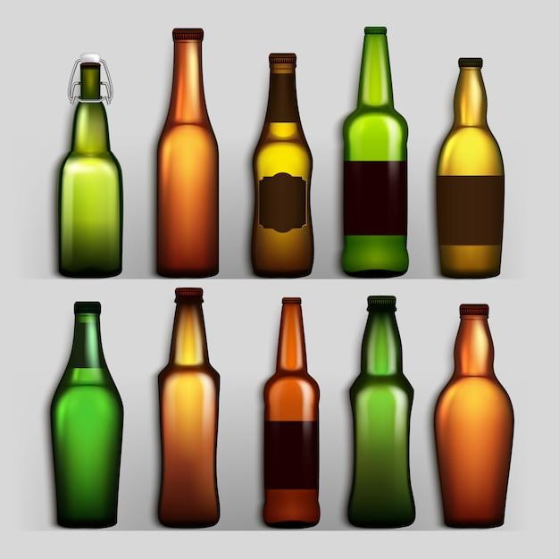 Bierflaschen Premium Vektoren