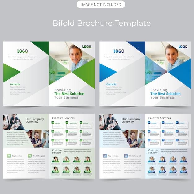 Bifold business broschürenvorlage Premium Vektoren